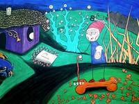 Grandma Jankica, fantastic stories drawing, outsider artwork