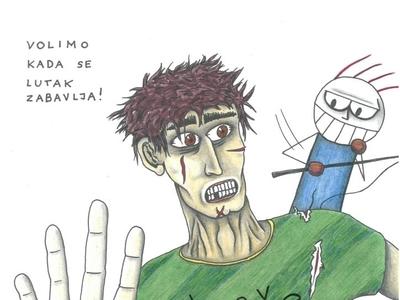 Puppet Zvonko, creative pain artist