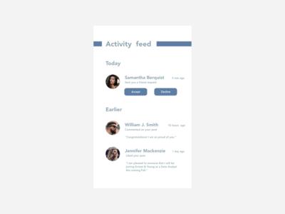 #DailyUI #047 #activityfeed #socialmedia