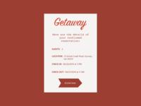#DailyUI #UI #054 #confirm #reservation #getaway