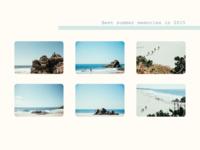 #DailyUI #UI #063 #bestof2015 #summer