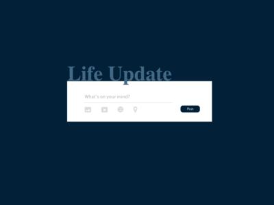 #DailyUI #UI #081 #updatestatus #socialmedia