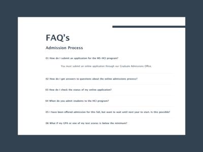 #DailyUI #UI #092 #FAQ