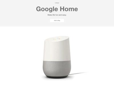 #DailyUI #UI #096 #currentlyinstock #googlehome