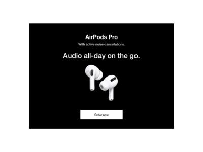 #DailyUI #UI #098 #advertisement #airpodspro #apple