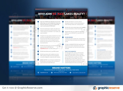 WHY JOIN? RE/MAX REAL ESTATE REALTY AGENT MARKETING FLYER why join remax why join remax realty agent marketing pic real estate agency