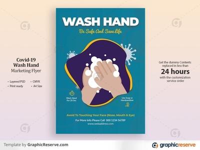 Covid-19 Prevention Wash Hand Flyer prevention quarantine wash hand flyer covid19 prevention covid coronavirus corona handwash covid-19