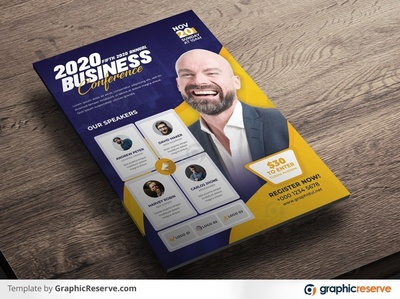 Creative & Modern Business Conference Flyer Template 2020 conference template seminar flyer template design seminar flyer conference modern business flyer corporate design corporate flyer corporate flyer