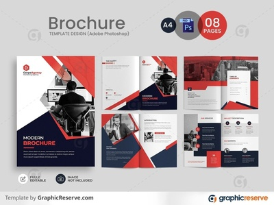 CORPORATE BROCHURE TEMPLATE print ready brochure template annual report brochure brochure tri-fold brochure 08 pages design 08 pages brochure templates business brochure brochure template