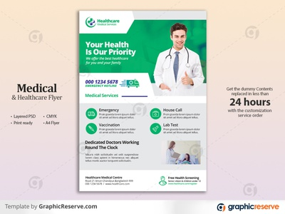 Medical & Healthcare Flyer Template pharmaceutical pharmacy medicine medical information medical flyer medical leaflet hospital flyer healthcare flyer health emergency doctor flyer doctor dentist dental service dental covid-19 clinic flyer clinic care