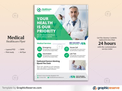 Medical & Healthcare Flyer Template pandemic nurse medicine medical information medical flyer medical leaflet hospital flyer healthcare flyer health emergency doctor flyer doctor dentist dental service dental covid-19 clinic flyer clinic care