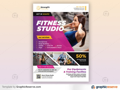 Fitness Flyer energy diet bodybuilding body building body advertising ad yoga flyer yoga sports poster marketing health flyer health gym flyer gym flyer fitness flyer fitness business flyer boxing flyer
