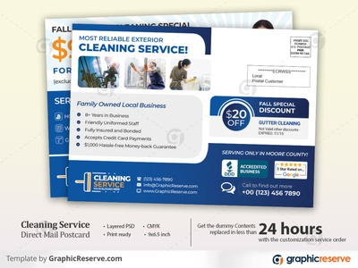 Cleaning Service EDDM Postcard