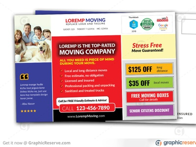 Moving and Storage Company Postcard moving postcard advertising