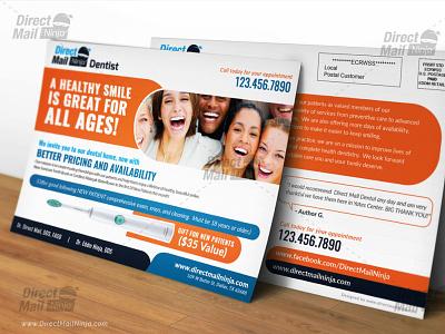 Dental Direct Mail EDDM Postcard Design Template pharmacy