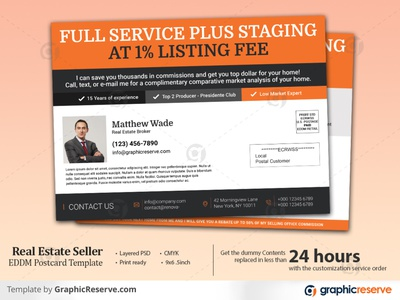 Real Estate Seller EDDM Postcard Template real estate eddm postcard