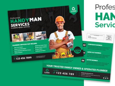 HANDYMAN SERVICES EDDM POSTCARD TEMPLATE