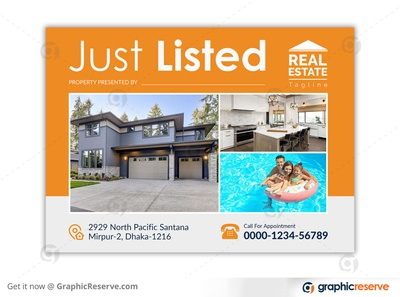 REAL ESTATE JUST LISTED EDDM POSTCARD