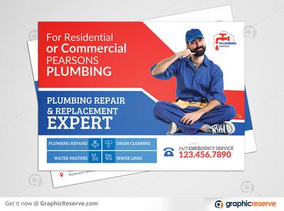 Plumbing Service EDDM Postcard Template