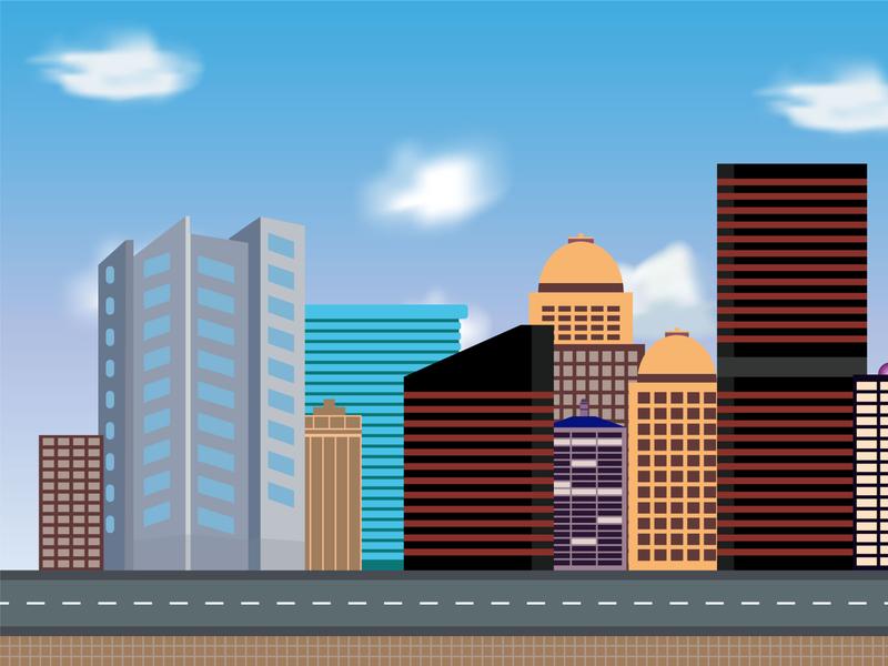 City Illustration Design city illustration art illustraion city illustration
