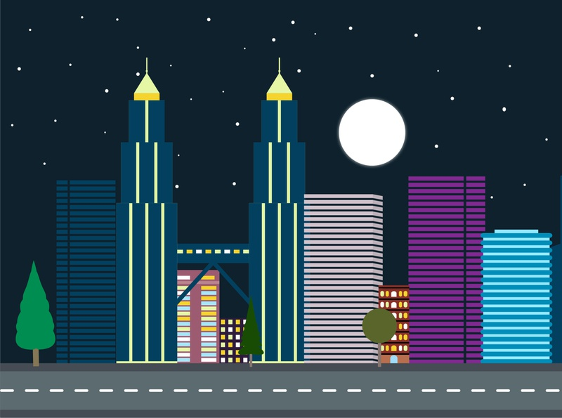 Night City illustration vector night city vector city illustration vector vector art night city city illustration