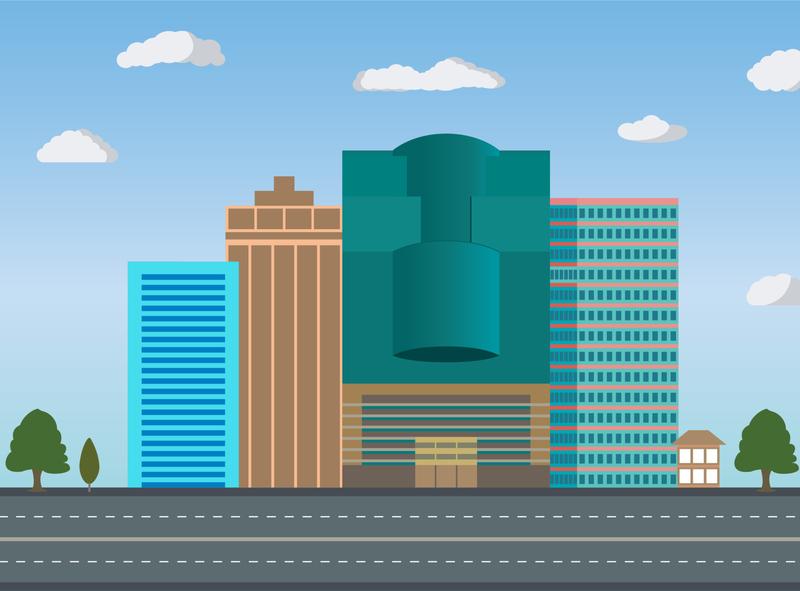Modern City Illustration illustraion city city illustration modern city