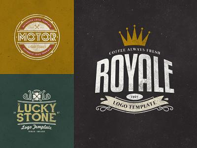 Retro Logo Templates V.01 minimal lettering design web vintage retro branding illustration vector logo