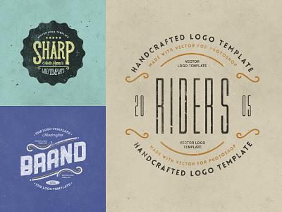 Retro Logo Templates V.03 type minimal design psd clean illustration identity photoshop lettering typography vintage vector retro logo branding