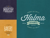 Retro Logo Templates V.06