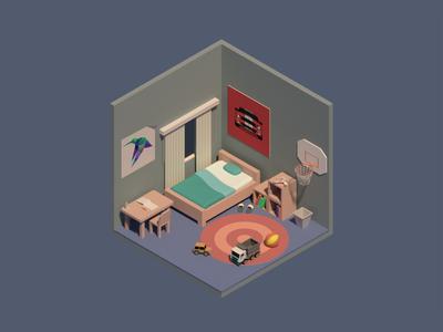kid's room (isometric)