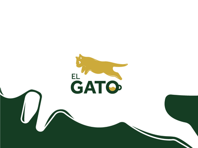 el_gato logo app design ux monogram minimal art direction designer graphics logotype vector illustration ui vectorart art icon logos visual identity logo brand flat branding