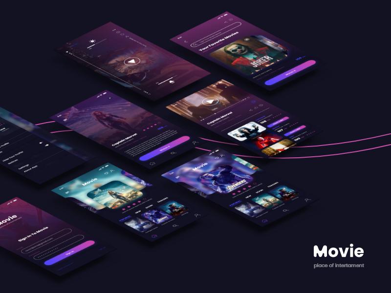 movie app profile dashboard uiux uidesign movie app illustration design ui art visual identity logos brand flat branding