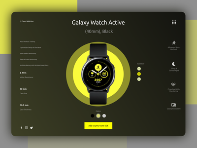 Galaxy Watch Active Redesign