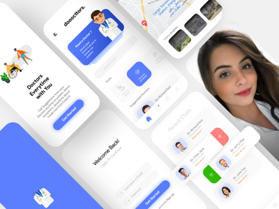 dooocttors daily ui dailyui doctor doctors doctor app website abstract webdesign ux illustration graphic designer design adobe illustrator graphicdesign ui