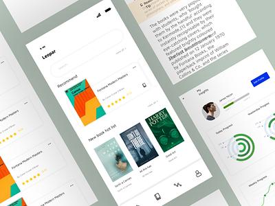 Reading App Design app design uiux ui design graphic designer design ux adobe illustrator ui graphicdesign