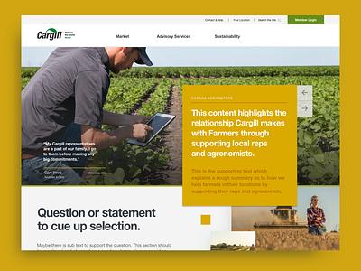 Cargill Concept site agriculture farmer farming visual design design branding web concept web design web ui ux