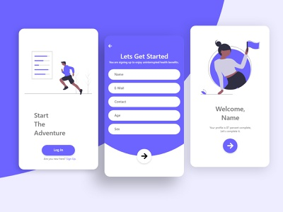 Sign Up Screen dailyui mobile app mobile ui clean ui activity trend illustration app ux ui typography uiux design