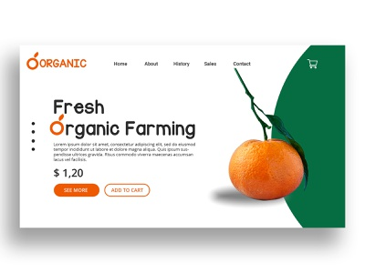 Organic Farming Landing Page website design website landing design landing page dailyui dashboard ui ui ux branding web typography uiux trend illustration design