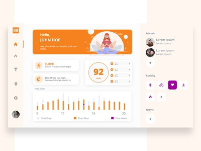 MI Band dashboard dashboard design dashboard app dashboad health minimalism dashboard ui dailyui web branding typography uiux trend illustration design mobile minimal