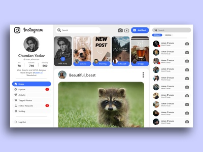 Instagram instagram stories instagram post instagram app dailyui web ui branding illustration typography uiux trend design