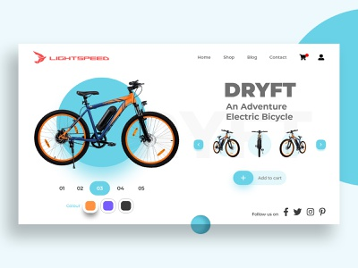 Cycle Product Page minimal product page design product cycle flat app dashboard ui dailyui branding illustration typography uiux trend design