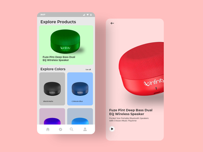 Product Design App trend typography button design buttons design app designer designs design color android app design android app application app design speaker buy jbl button app