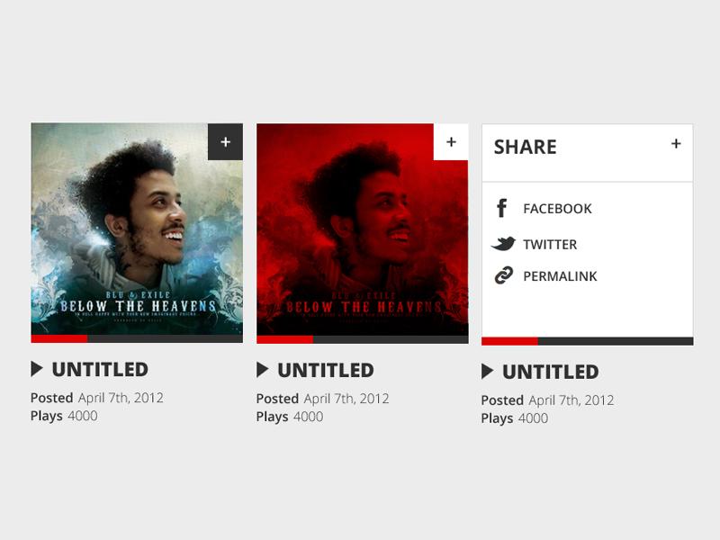 Simple audioplayer widget audio music album art ui design minimal