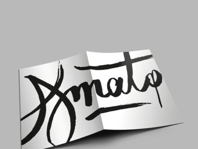 Amato poster menu stationery