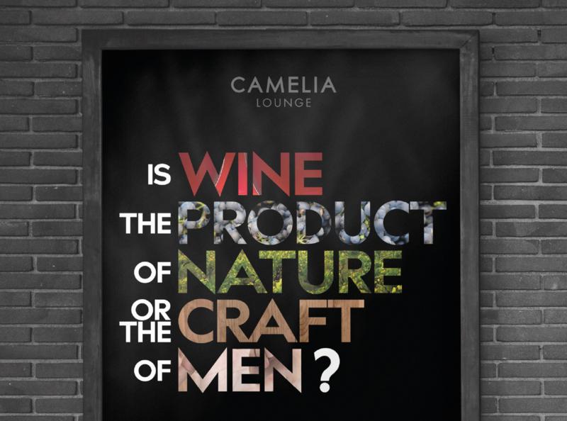 Camelia Lounge menu stationery poster