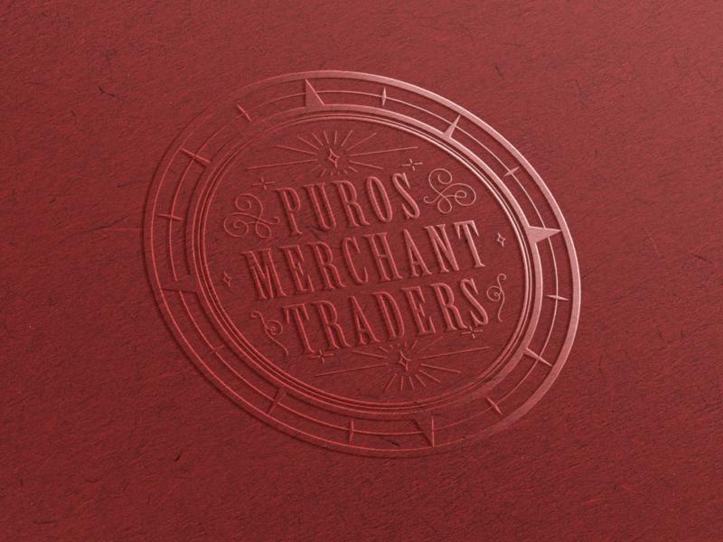 Puros Merchant Traders website stationery logo