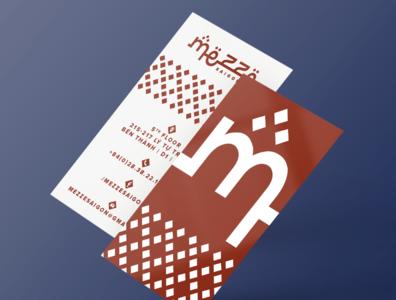 Mezze menu stationery logo