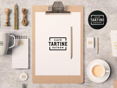 Café Tartine Saïgon packaging stationery logo