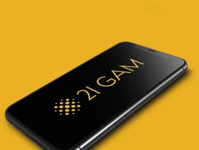 21 Gam menu stationery logo