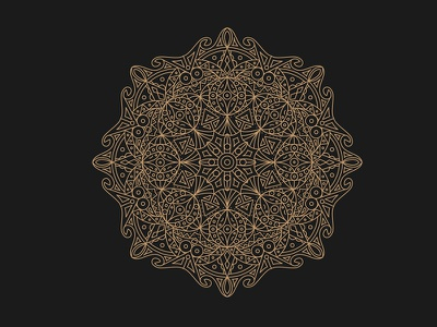 Mandala nickvlow lifework stroke gold design mandala